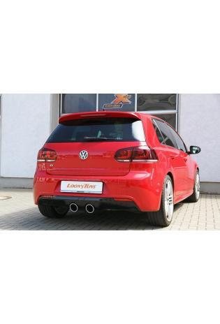 Supersprint Sportauspuffanlage 2x100 rund inkl. Metall-Kat. 100 CPSI - VW Golf VI R 2.0i TFSI ab Bj. 10