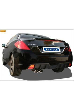 BASTUCK Komplettanlage ab Kat. Peugeot 308 CC Coupe Cabrio Turbo 1.6l - 2 x 110x70mm oval (RohrØ 70mm)