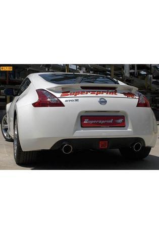 Supersprint Sportauspuff Duplex-Endschalldämpfer rechts-links 100mm - Nissan 370Z Coupe u. Cabrio ab Bj. 09