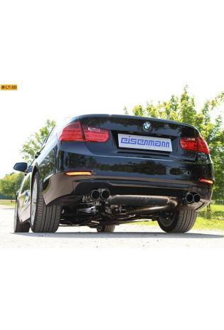 EISENMANN RACE Sportauspuff BMW 3er F30 Limousine F31 Touring 328i - re/li je 2 x 76mm