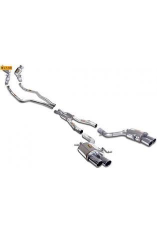 Supersprint Duplex Komplettanlage inkl. Metall-Kat. BMW 7er F01 F02 750i ab Bj.09 re li je2x90mm