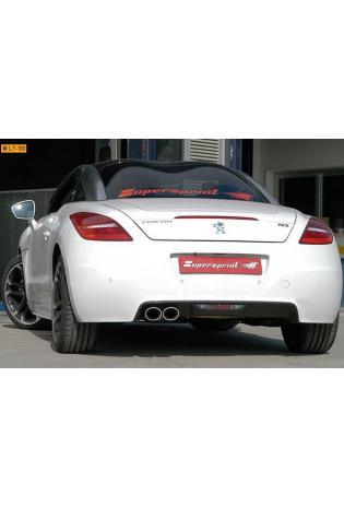 Supersprint Sportauspuffanlage inkl. Metall-Kat. 2x 100x75 oval - Peugeot RCZ THP 1.6i (156 PS) ab Bj. 10