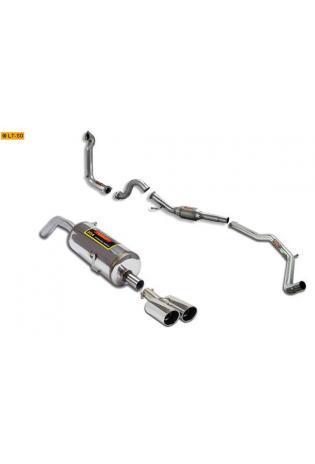 Supersprint Sportauspuff Racinganlage inkl. Metall-Kat. 2x 90 rund - Peugeot RCZ THP 1.6i (200 PS) ab Bj. 10