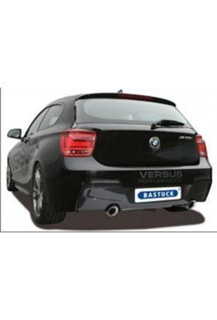 BASTUCK RACING Komplettanlage inkl. Kat-Ersatzrohr BMW 1er F20 F21 114i 116i 118i re/li je 1x90mm schräg