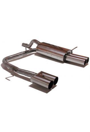GESTEC Sportauspuff Endschalldämpfer 2x76mm duplex Ford Fiesta MK7 ab 08
