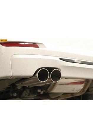Supersprint Sportauspuff Komplettanlage links 2x80 rund inkl. Metall-Kat. und Mittelschalldämpfer - BMW F30-F31 328i 2.0T ab Bj. 12