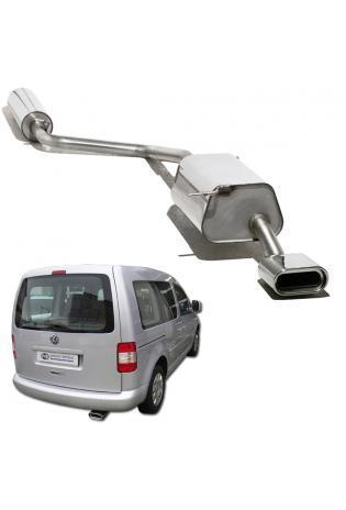 FOX Komplettanlage ab Kat VW Caddy 3 1.2l 1.4l 1.6l 2.0l SDI 1x160x80mm flachoval
