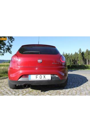 FOX Komplettanlage ab Kat Fiat Bravo 198 2.0l D -  2 x 90mm scharfkantig (RohrØ 55mm)