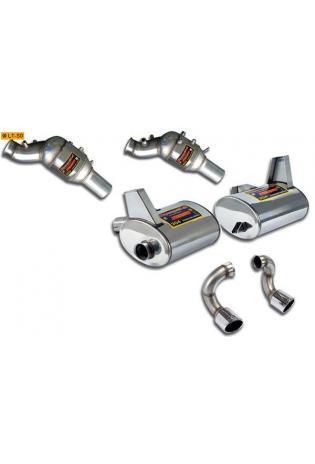 Supersprint Sportauspuffanlage rechts-links 100 rund inkl. Metall-Kat. - Lamborghini Gallardo Coupe u. Spider 5.0i Bj. 03-05