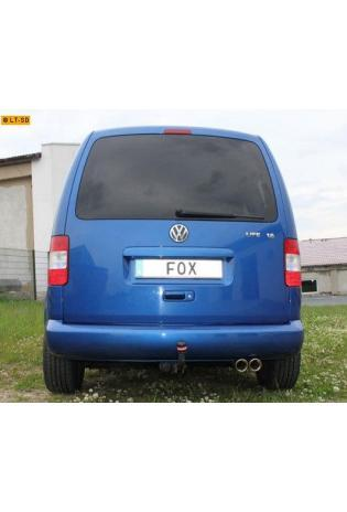 FOX Sportauspuff VW Caddy 3 Diesel -  2 x 80mm abgeschrägt (RohrØ 55mm)