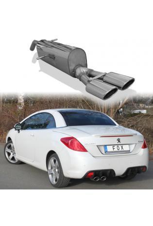 FOX Sportauspuff Endschalldämpfer Peugeot 308cc 1.6l 2 x 106x71mm oval