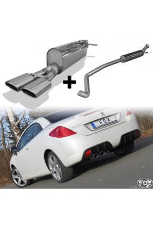 FOX Komplettanlage ab Kat Peugeot 308cc 1.6l  2x106x71mm oval