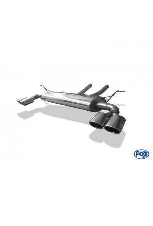 FOX Duplex Sportauspuff Porsche Cayenne 955 3.2l - rechts links je 2 x 115x85mm oval (RohrØ 70mm)
