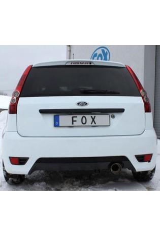 FOX Sportauspuff Ford Fiesta MK6 1.2l 1.3l 1.4l ab Bj. 01 - 1 x 90mm scharfkantig abgeschrägt (RohrØ 50mm)