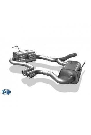 FOX Racinganlage ab Kat Mini Cooper S R53 1.6l Bj. 02-06 2x76mm eingerollt