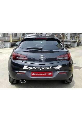 Supersprint Sportauspuff Racinganlage links 120x80 ab Serien-Kat. - Opel Astra J GTC 1.6i Turbo ab Bj. 11