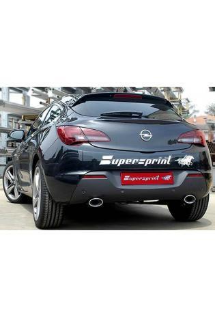 Supersprint Sportauspuff Duplex-Endschalldämpfer rechts-links 120x80 - Opel Astra J GTC 1.6i Turbo ab Bj. 11