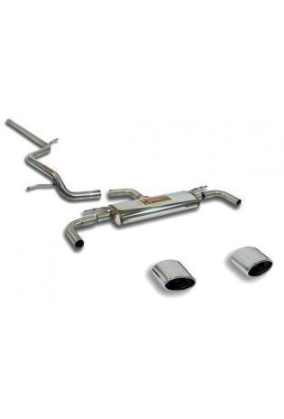 Supersprint Sportauspuffanlage rechts-links 145x95 oval ab Serien-Kat. - Audi A3 8V 1.4 TFSI 1.6 TDi u. 2.0 TDi ab Bj. 2012