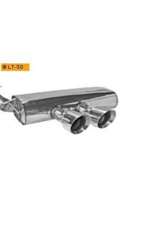 BASTUCK RACING Komplettanlage inkl. Kat-Ersatzrohr Ford Focus 3 ST Turnier ab Bj. 10 2.0l  2 x 100mm mittig (RohrØ 70mm)