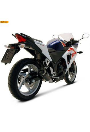 Termignoni Slip On konische Form, Version V4A/Carbon für HONDA CBR 250 R Bj. 11-13