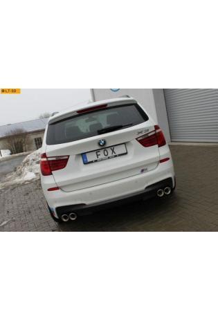 FOX Duplex Sportauspuff BMW X3 F25 35i 35d rechts links je 2x90mm