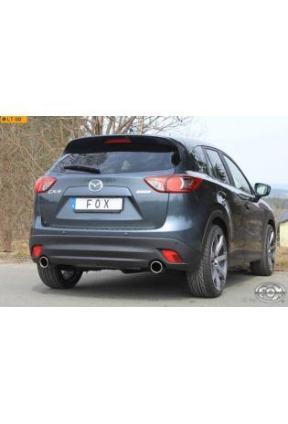 FOX Sportauspuff Mazda CX5 Typ KE 2.0l + 2,5l ab Bj. 11 - rechts links je 1 x 100mm abgeschrägt
