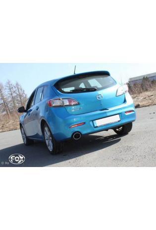 FOX Sportauspuff Mazda 3 Typ BL 2.2l D ab Bj. 09 1 x 129x106mm oval (RohrØ 63.5mm)