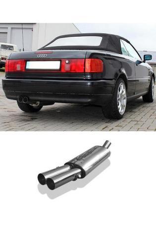 FOX Sportauspuff Audi 80/90 Typ 89 B3 Limousine/ Coupe/ 80 B4 Cabrio 2 x 76mm