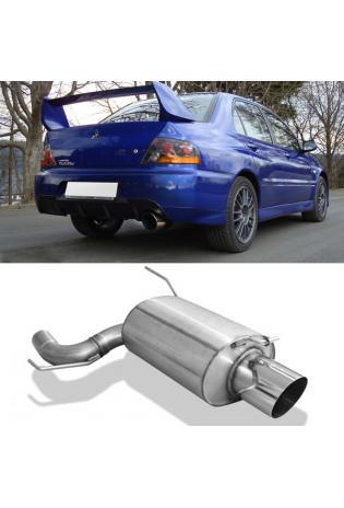FOX Sportauspuff Mitsubishi Lancer Evolution 9 2.0l 1 x 129mm ohne Absorber (RohrØ 70mm)