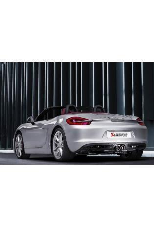 Akrapovic Sportauspuff Titan-Endschalldämpfer 2x rund mittig - Porsche Boxster u. Boxster S Typ 981 ab Bj. 2012
