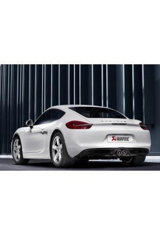 Akrapovic Sportauspuff Titan-Endschalldämpfer 2x rund mittig - Porsche Cayman u. Cayman S Typ 981c ab Bj. 2013