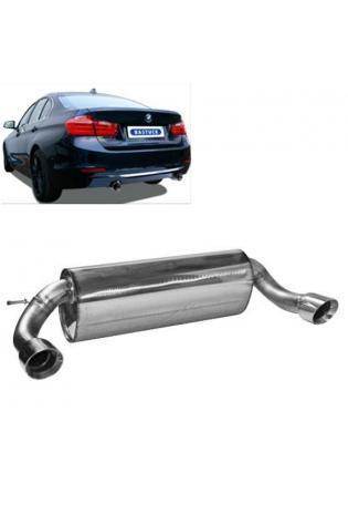 Bastuck Komplettanlage ab Kat. BMW 3er F30 Limo  316i 320i 330d rechts links je 1 x 90mm schräg