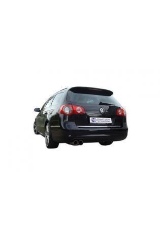 FOX RACING Komplettanlage ab Kat VW Passat 3C Lim. Variant CC 2.0l TDI  ab Bj. 05 2 x 90mm abgeschrägt (RohrØ 63.5mm)