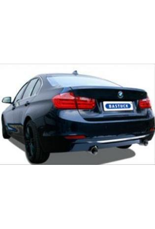 Bastuck Komplettanlage inkl. Sport-Kat BMW 3er F30 Limo  F31 Touring 320i 328i 330d rechts links je 1x90mm schräg