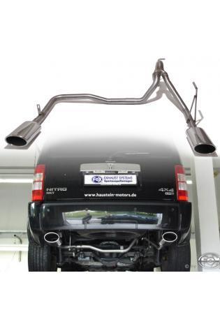 FOX Endrohrgeweih Dodge Nitro  - rechts links je 140x90mm oval (RohrØ 63.5mm)