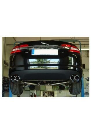 FOX Duplex Sportauspuff Jaguar XF CC9 2.7l D rechts links je 2x 90mm abgeschrägt (RohrØ 55mm)