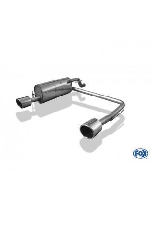 FOX Komplettanlage ab Kat. Opel Corsa D NRE-Stoßstange 1.2l 1.4l rechts links je 1x100mm eingerollt