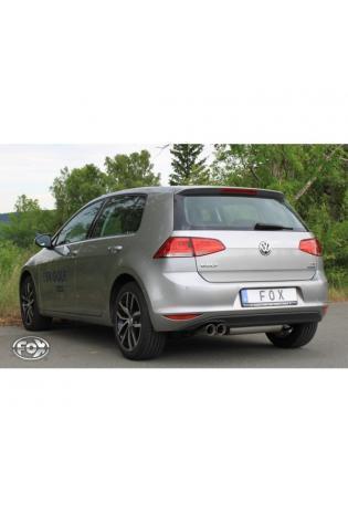 FOX Sportauspuff Endschalldämpfer für VW Golf 7 Einzelradaufhängung links 2 x 80mm Typ 25