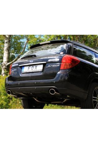 FOX Sportauspuff Subaru Outback u. Legacy Typ BP Kombi 2.0l 2.5l 3.0l 2.0 D rechts links je 1x115x85mm oval