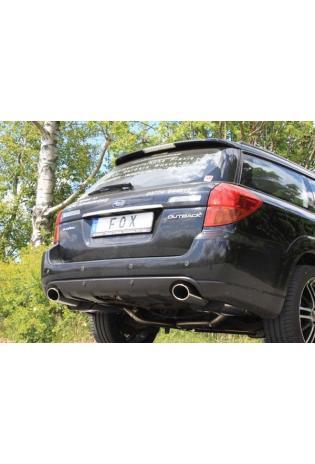 FOX Komplettanlage ab Kat Subaru Outback u. Legacy Typ BP Kombi 3.0l re/li je 1x 115x85mm