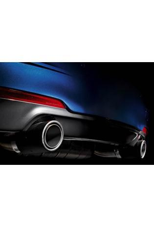 Akrapovic Duplex Sportauspuff BMW 3er F30 335i ab Bj.12 und F32 4er Coupe 435i rechts-links je 1 Endrohr Carbon