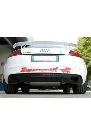 Supersprint Sportauspuff Audi TT RS Quattro Coupe/Roadster 2.5 TFSi - Racinganlage rechts-links mit Klappensteuerung inkl. Metall-Kat. 80mm System