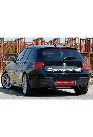 Supersprint Sportauspuff BMW 1er M135i ab Bj. 12 - Racinganlage mit Downpipe anstelle Kat. rechts-links je 100 rund