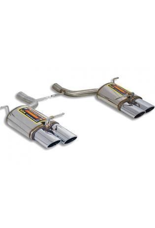 Supersprint Sportauspuff Mercedes R172 SLK 200 CGI u. 250 CGI ab Bj. 11 - Duplex-Endschalldämpfer rechts-links 2x 120x80 für AMG-Heckschürze