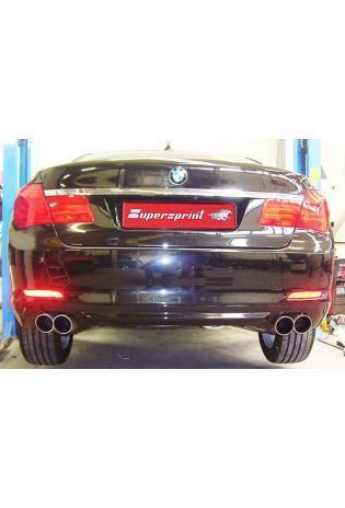 Supersprint Sportauspuff BMW 7er F01-F02 730d 740d ab Bj. 09 - Anlage ab Kat. Rechts-links 2x90 rund