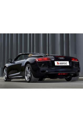 Akrapovic Sportauspuff Audi R8 Coupe-Spyder 5.2 Bj. 09-12 - Titan-Endschalldämpfer rechts-links oval Carbon mit Klappensteuerung