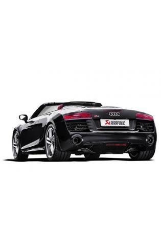 Akrapovic Sportauspuff Audi R8 Coupe-Spyder 5.2 ab Bj. 13 - Titan-Endschalldämpfer rechts-links oval Carbon mit Klappensteuerung