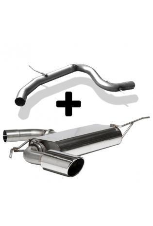 FOX RACING Komplettanlage ab Kat Seat Leon 1P 1.4l  1.8l - 1 x 129x106mm oval (RohrØ 70mm)