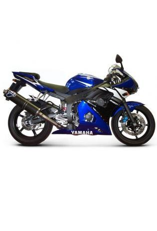 Termignoni Slip On ovale Form, Version Titan/Carbon für YAMAHA YZF R 6 Bj. 03-05