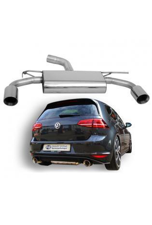 Fox Sportauspuff VW Golf 7 2.0l GTI ab Bj. 12 - rechts links je 1 x 100mm mit Type-B-Einsatz (RohrØ 70mm)